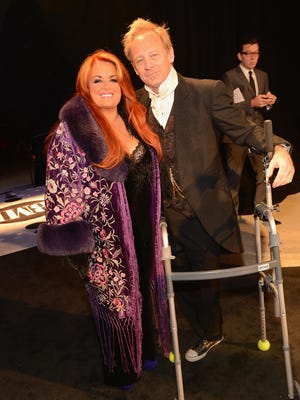 Wynonna Judd and Michael Scott 'Cactus' Moser attend the 60th Annual BMI Country Awards on Oct. 30 in Nashville.