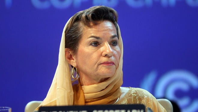 Christiana Figueres, Executive Secretary of the United Nations Framework Convention on Climate Change, attends the opening session of the United Nations Climate Change conference in Doha, Qatar, on Nov. 26.