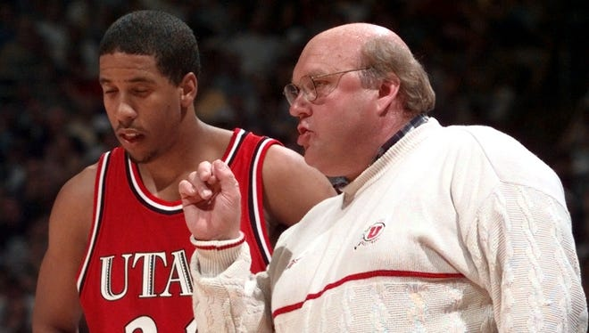 Coach Rick Majerus, shown here coaching Andre Miller at Utah, died Saturday.