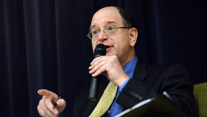 Democratic Rep. Brad Sherman participates in a debate in Reseda, Calif., on Oct. 10.