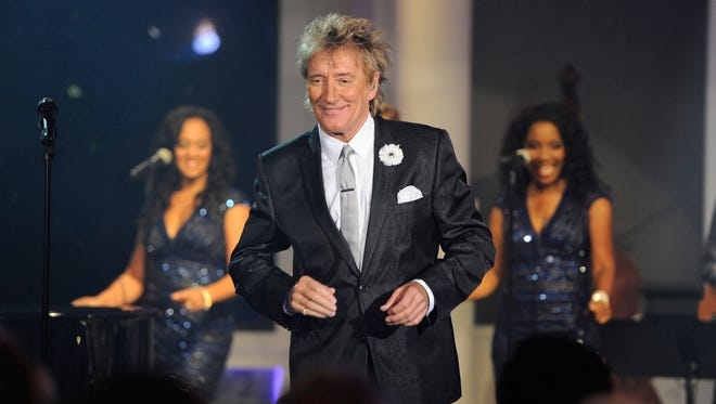 Rod Stewart also released a holiday album, 'Merry Christmas Baby.'