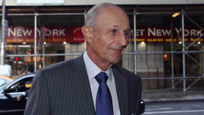 Boston Bruins owner Jeremy Jacobs arrives at the Westin Times Square Hotel for Tuesday's meeting with players. He's one of six owners taking part.