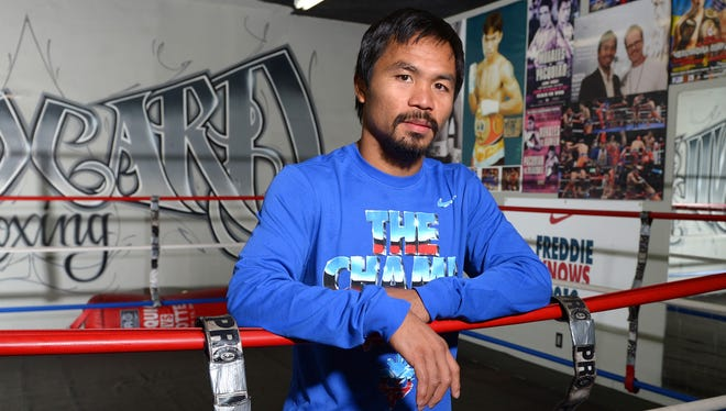 Manny Pacquiao began training more than five weeks ago for his fight Saturday against Juan Manuel Marquez.