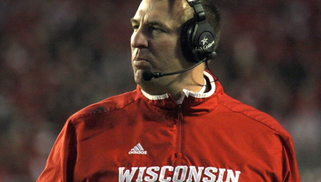 Bret Bielema led Wisconsin to the Big Ten title and a berth in the Rose Bowl this season.
