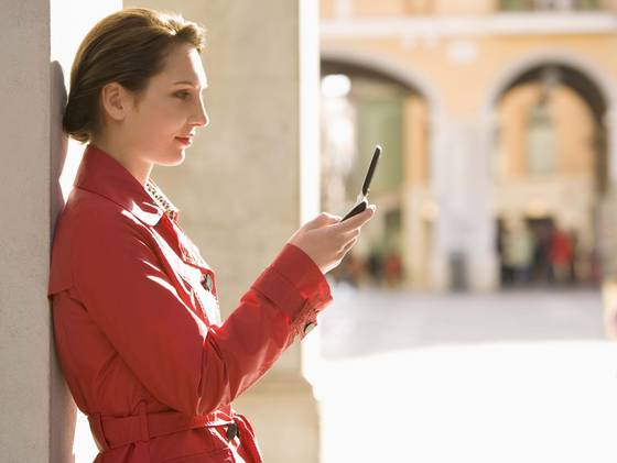 Spain businesswoman cellphone