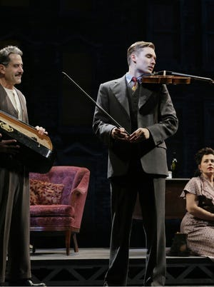 Tony Shalhoub, left, and Seth Numrich in a scene from Lincoln Center Theater?Äôs 75th Anniversary production of the Clifford Odets classic  GOLDEN BOY.
