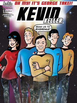 """George Takei appears in a new issue of Archie Comics' """"Kevin Keller"""" series."""