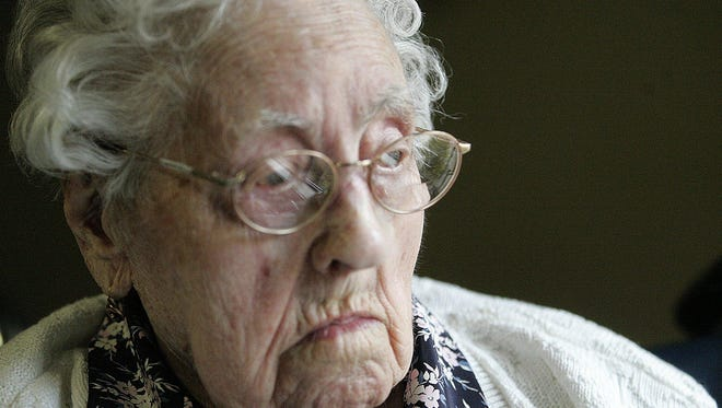 Dina Manfredini, who is 115 years old and lives  in Johnston, Iowa, is now the oldest person in the world, according to the Gerontology Research Group. (Lisa Fernandez, The Des Moines Register)