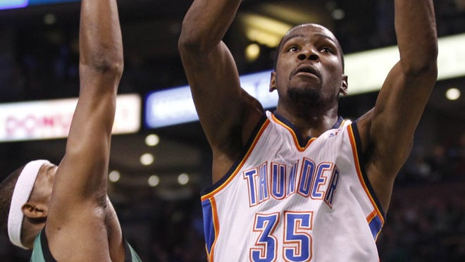 Oklahoma City Thunder small forward Kevin Durant (35) has debunked the myth that a player can't make it big in a small market.