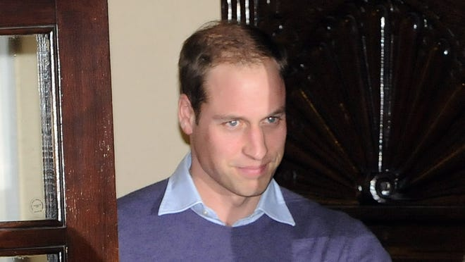 Prince William departs the King Edward VII Private Hospital on Dec. 4 in London.