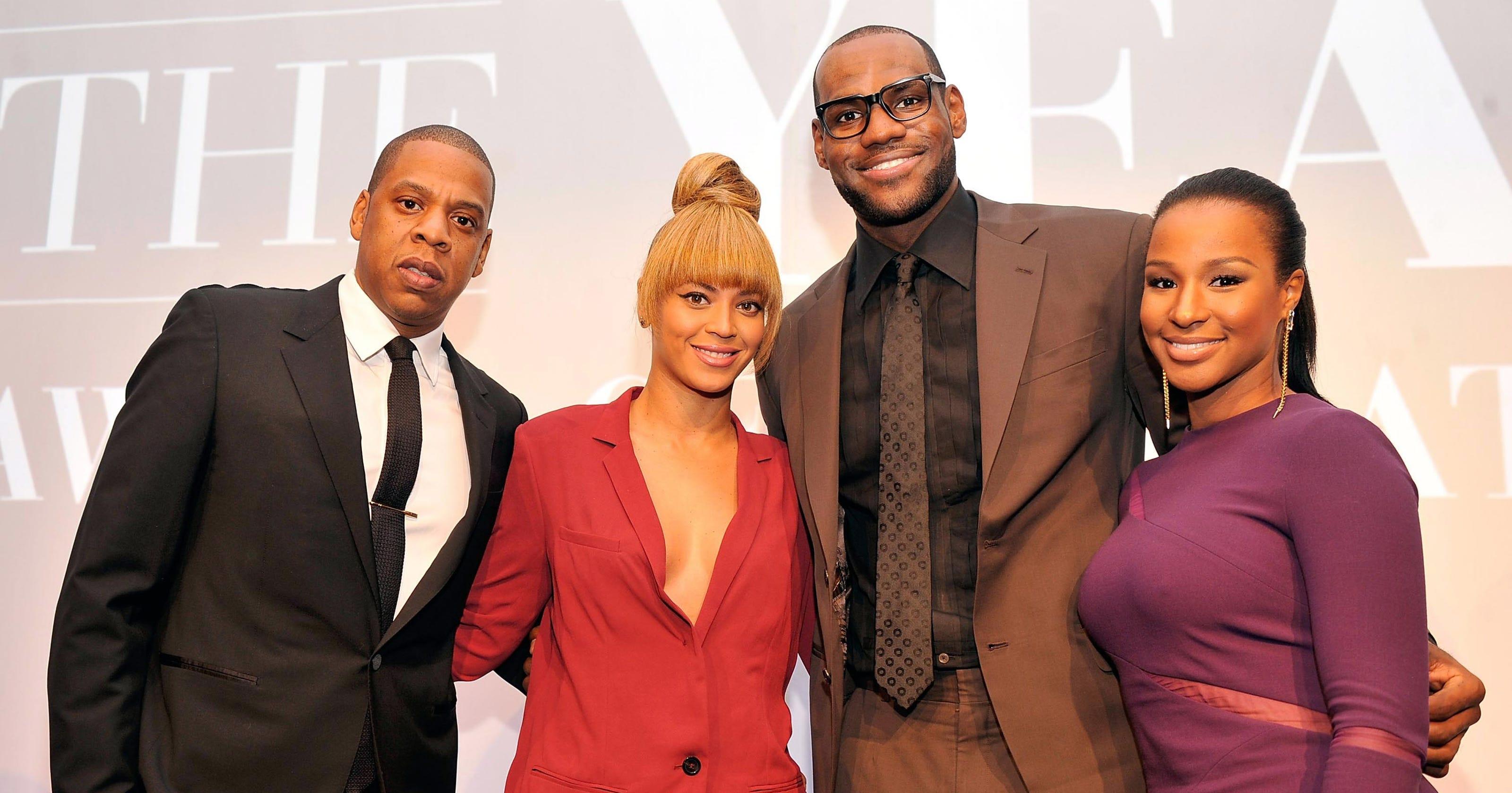 8b5e8dc1c2 Beyonce, Jay-Z celebrate with LeBron James