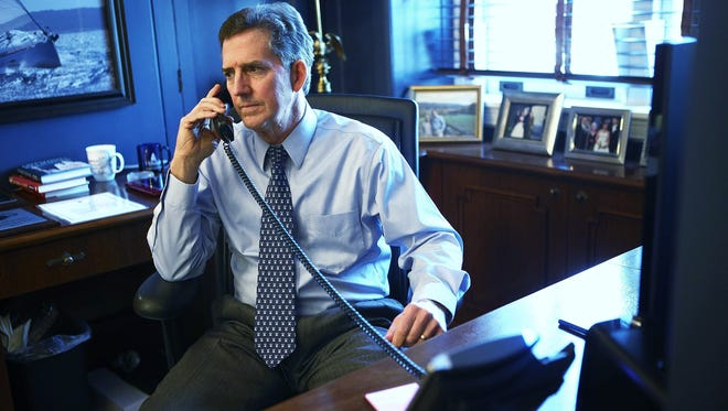 Sen. Jim DeMint, R-S.C., talks on the phone in his Capitol Hill office on Thursday.