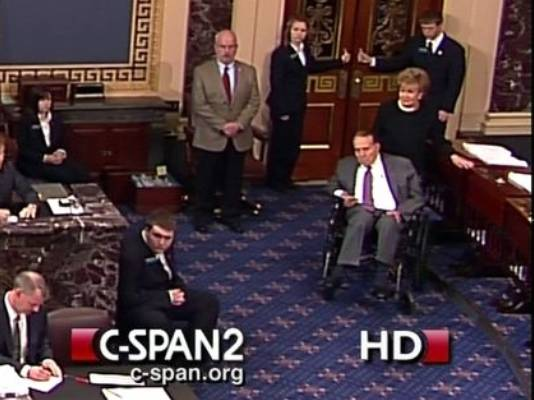 Not even Bob Dole in a wheelchair could get Republican Senators to vote for Treaty on Disabilities.