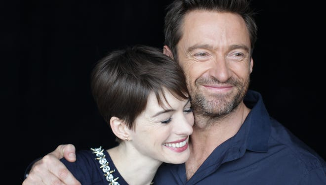 Hugh Jackman and Anne Hathaway co-star in the musical 'Les Miserables.'
