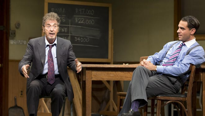 Al Pacino, left, and Bobby Cannavale star in the revival of 'Glengarry Glen Ross.'