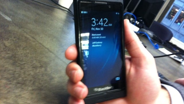A prototype model of a new BlackBerry 10.