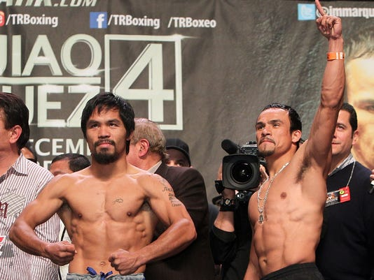 Pacquiaqo and Marquez weigh-in