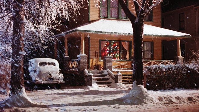Then: Ralphie's house in the movie 'A Christmas Story.'