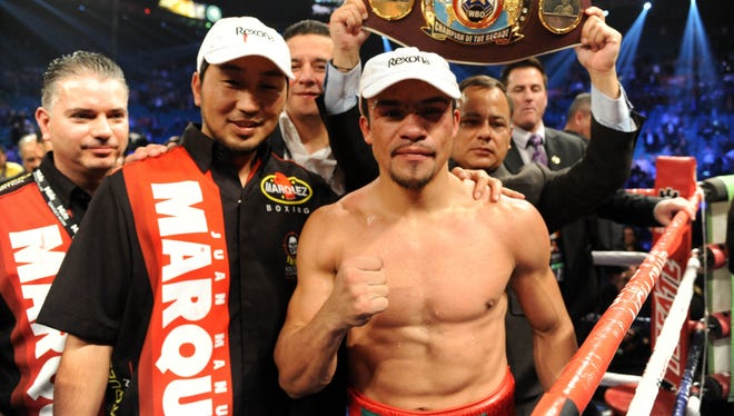Juan Manuel Marquez defeated Manny Pacquiao for the first time Saturday night.