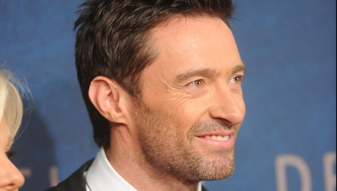 Hugh Jackman attends the 'Les Miserables' New York premiere at the Ziegfeld Theatre on Monday.