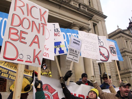 right to work michigan 121112