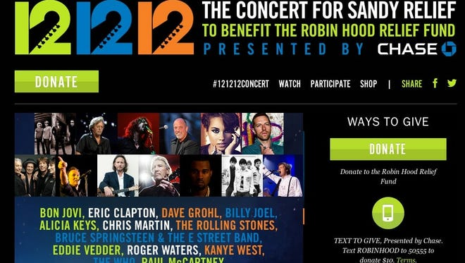 12-12-12: The Concert for Sandy Relief will be broadcast live to 2 billion people.
