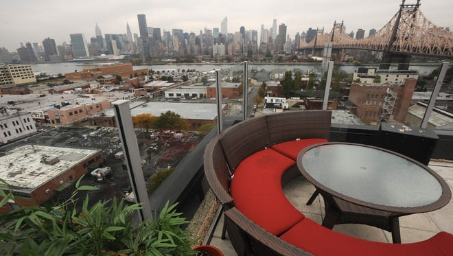 More hotels popping up outside Manhattan: With land so expensive in Manhattan, hotel developers are turning to the outer boroughs for less expensive property. And tourists are following for the less expensive hotel rooms.The Z Hotel in Long Island City, N.Y., offers views of New York City's Manhattan Island across the East River.