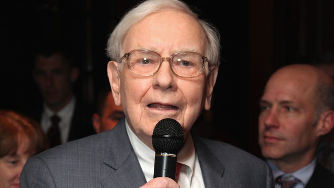 """Warren Buffett during a book party Nov. 26 for """"Tap Dancing To Work: Warren Buffett On Practically Everything, 1966-2012,"""" by Carol Loomis, in New York."""