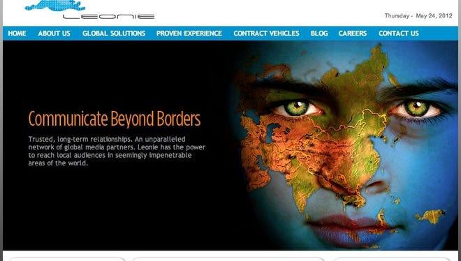 A screengrab of the Leonie Industries' website taken in May.