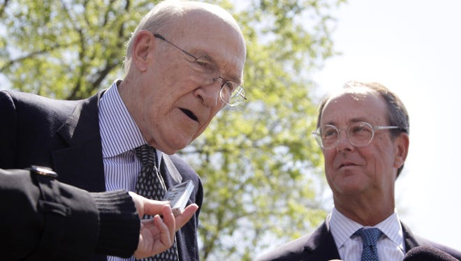 Former senator Alan Simpson, left, and Erskine Bowles co-founded the FixTheDebt campaign.