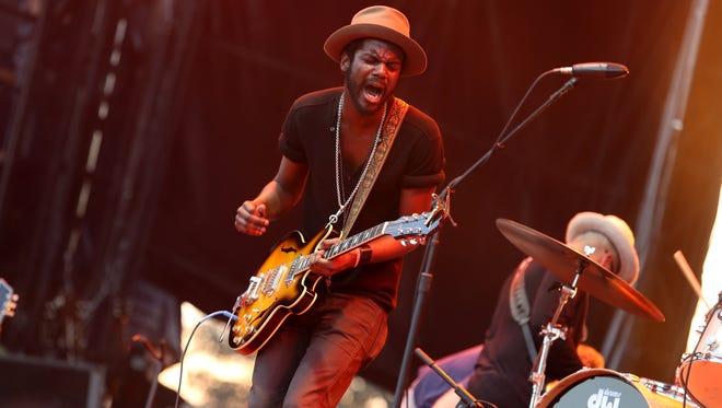 Gary Clark Jr. and band perform at the 2012 Voodoo Experience  in New Orleans.