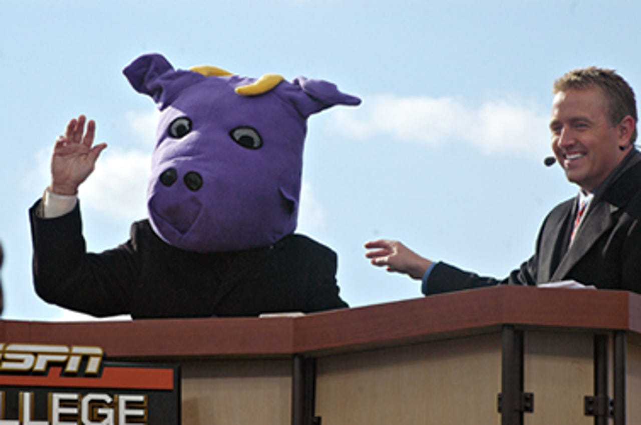 <b>Williams College (Mass.) EphsMascot: </b>The school mascot is famously the Purple Cow.A 1907 vote gave Williams College its mascot, named after a student humor magazine on campus.