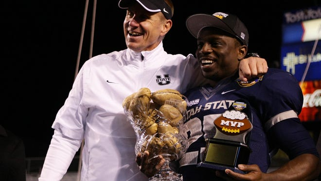 Utah State running back Kerwynn Williams ran for 235 yards and was named MVP of the Famous Idaho Potato Bowl.
