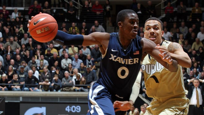 Xavier guard Semaj Christon (0) one day might watch his Musketeers basketball team compete as a member of a league with seven teams that were founding members of the Big East.