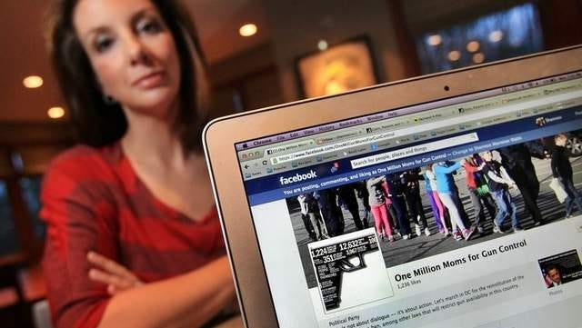 Shannon Watts of Zionsville, Ind., launched One Million Moms for Gun Control on Facebook in the wake of the Connecticut shootings. (Charlie Nye/The Indianapolis Star)