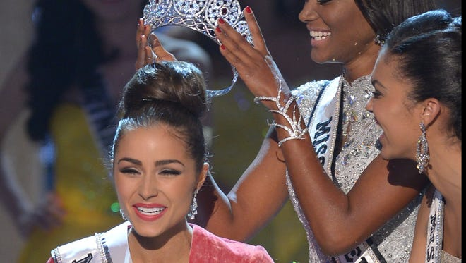 Miss USA, Olivia Culpo, is crowned Miss Universe 2012 during the Miss Universe Pageant at Planet Holywood in Las Vegas on Wednesday.
