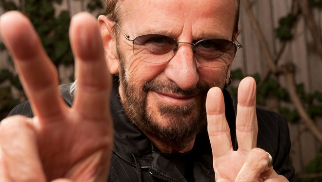 The peace sign is a trademark for Ringo Starr.