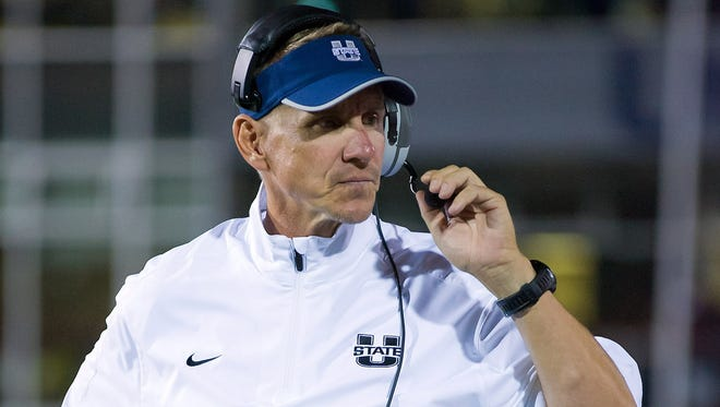 Utah State coach Gary Andersen led the Aggies to an 11-2 record and a victory in the Idaho Potato Bowl this season.