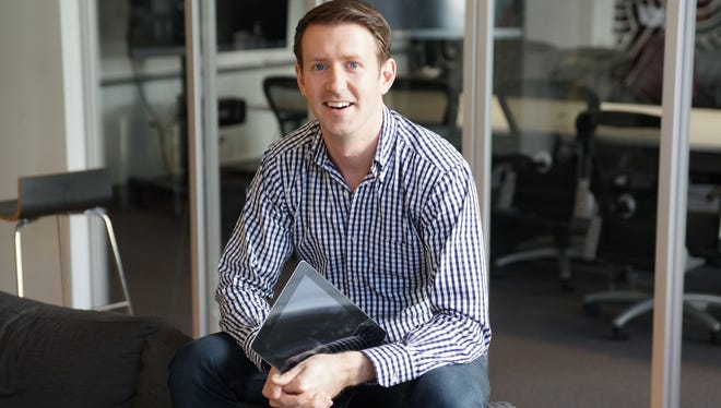 San Francisco start-up Inkling is expanding from textbooks to now offer visual books for the iPad. Pictured is CEO Matt MacInnis.