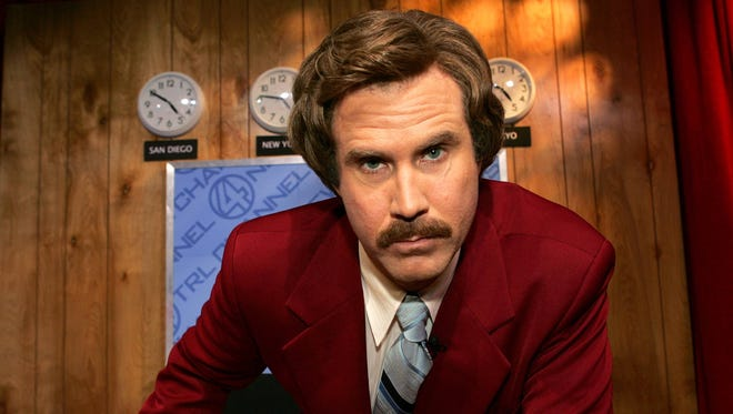 Will Ferrell is Ron Burgundy in 2004 film 'Anchorman.'