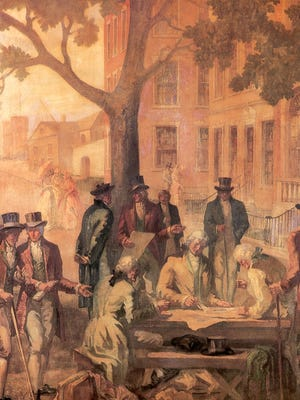 In 1792 - 24 brokers gathered beneath a buttonwood tree on Wall Street to sign the ?Buttonwood Agreement.?