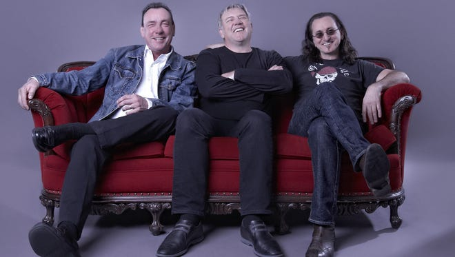 Canadian hard rock trio Rush, from left, drummer Neil Peart, guitarist Alex Lifeson and singer/bassist/keyboardist Geddy Lee.