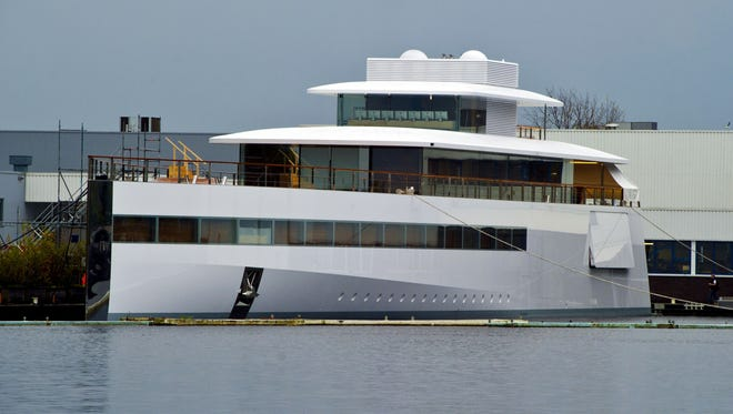 The yacht ordered by Apple's late founder Steve Jobs at the De Vries shipyard in the Netherlands.