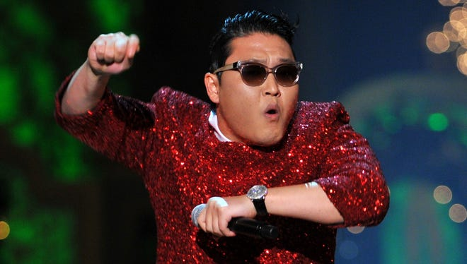 Singer Psy performs during the TNT Christmas in Washington in early December.