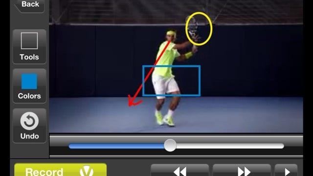 Tennis great Rafael Nadal's new app offers in-depth tennis tutorials.