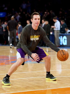 Lakers point guard Steve Nash, shown Dec. 13, expects to play Christmas Day in his first game since Oct. 31.