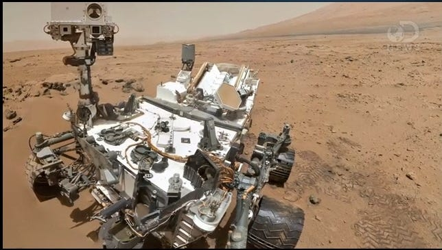 This screengrab shows NASA's Curiosity rover.