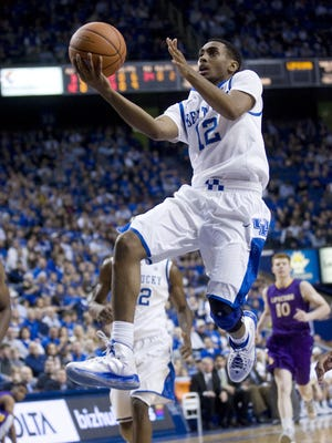 Kentucky sophomore guard Ryan Harrow, shown against Lipscomb on Dec. 15, shot 10-of-17 from the field and scored a career-high 23 points Saturday against Marshall.