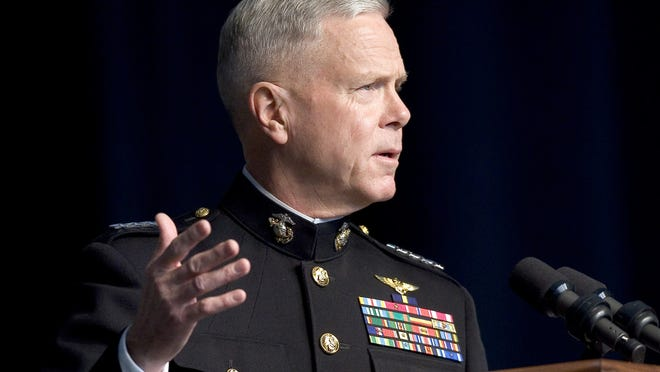 Gen. James Amos will be speaking with Marine Corps' officers about ethical standards in the wake of recent scandals.