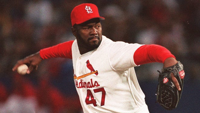 Lee Smith, who pitched for eight teams -- including the St Louis Cardinals -- retired in 1997 as the all-time MLB leader in saves with 478.